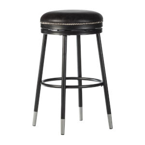 Valera Black 26-Inch Decorative Backless Metal Swivel Counter Height Stool
