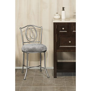 Emerson Pewter Vanity stool