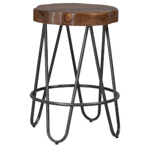Pembra Natural and Gray 26-Inch Counter Height Stool