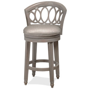 Adelyn Antique Graywash Swivel Counter Stool