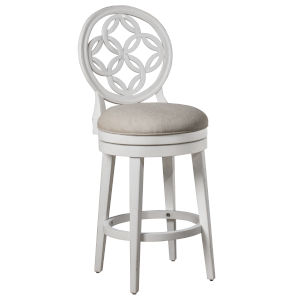Savona White Bar Height Stool