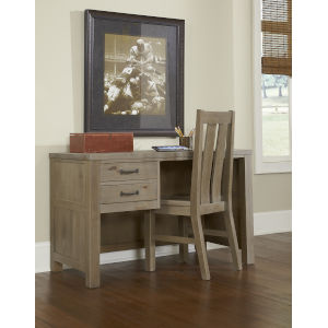 Highlands Driftwood Desk With Chair
