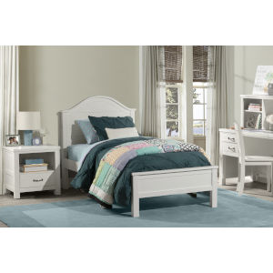 Highlands White Twin Arch Bed