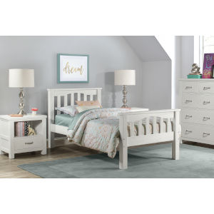Highlands White Twin Harper Bed