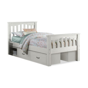 Highlands White Twin Harper Bed With 2 Storage Unit
