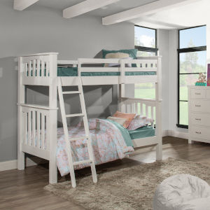 Highlands White Twin Bunk Bed