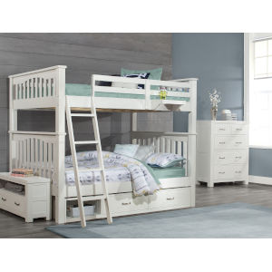 Highlands White Full Harper Bed With 2 Storage Unit