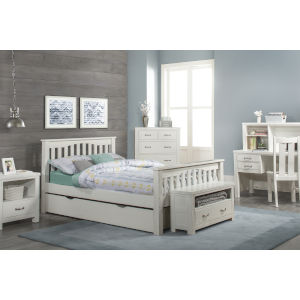 Highlands White Full Harper Bed With Trundle