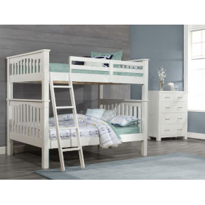 Highlands White Full Bunk Bed