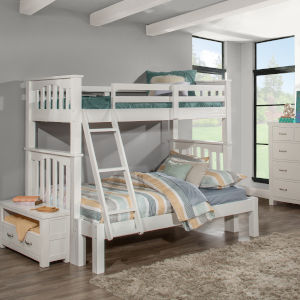 Highlands White Twin Full Extension Bunk Bed