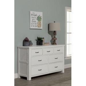 Highlands White 7 Drawer Dresser
