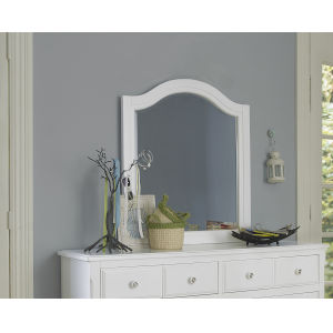 Lake House White Arched Mirror