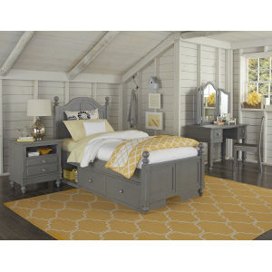 Lake House Stone Twin Arch Bed With Storage