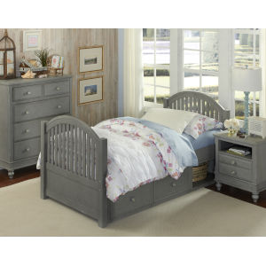 Lake House Stone Twin Bed With Storage