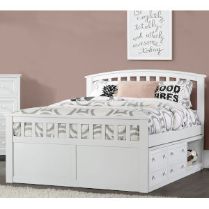 Schoolhouse 4.0 White Full Bed With Storage Unit