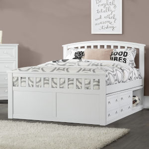 Schoolhouse 4.0 White Full Bed With 2 Storage Unit