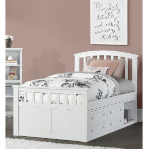 Schoolhouse 4.0 White Twin Bed With Storage Unit