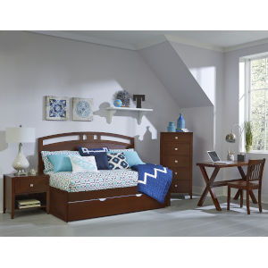 Pulse Cherry Twin Arch Daybed With Trundle