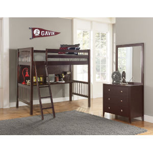 Pulse Cherry Twin Loft Bed