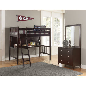 Pulse Chocolate Twin Loft Bed