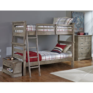 Oxford Cocoa Twin Over Twin Bunk Bed