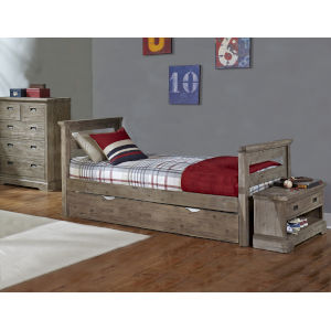 Oxford Cocoa Twin Bed With Trundle