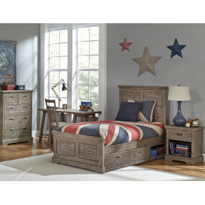 Oxford Cocoa Twin Panel Bed With Storage