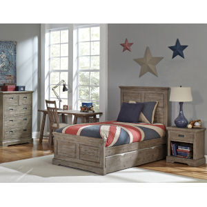 Oxford Cocoa Twin Panel With Trundle