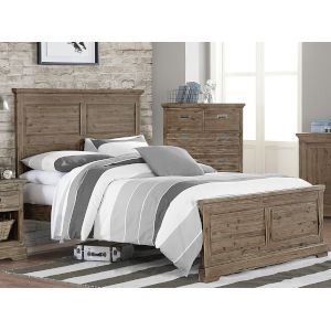 Oxford Cocoa Full Panel Bed