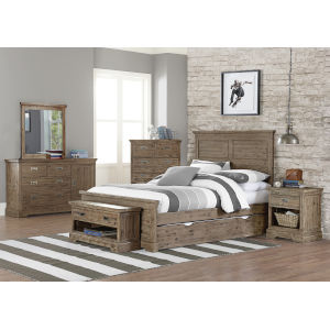 Oxford Cocoa Full Panel Bed With Trundle
