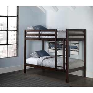 Hillsdale Caspain Twin Over Twin Bunk, Chocolate
