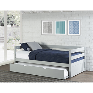 Hillsdale Caspain Daybed With Trundle, Gray