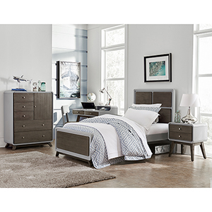 East End Gray Panel Twin Bed