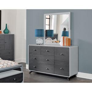 East End Gray Dresser with Mirror