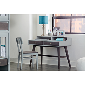 East End Gray Desk with Chair