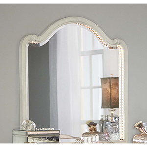 Angela Wood Arc Lighted Vanity Mirror