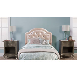 Karley Headboard - Full - Headboard Frame Not Included - Champagne Faux Leather