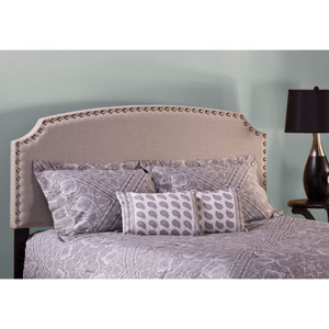 Lani Upholstered Headboard - Queen - Light Linen Gray - Headboard Frame Not Included
