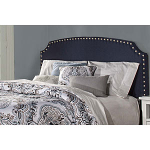 Lani Upholstered Headboard - Queen - Navy Linen - Headboard Frame Not Included