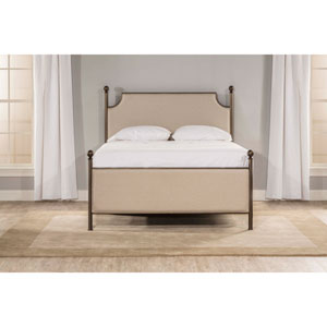 McArthur Upholstered Bed - Bronze Finish - King - Bed Frame Not Included