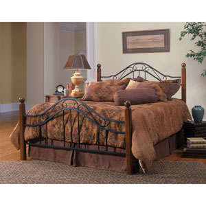Madison Textured Black Queen Complete Bed