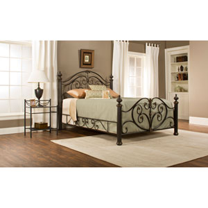 Grand Isle Brushed Bronze Queen Bed Set with Rail