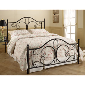 Milwaukee Antique Brown King Complete Bed