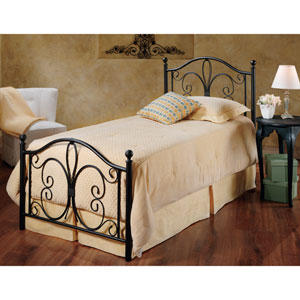 Milwaukee Antique Brown Twin Complete Bed