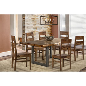 Emerson 7-Piece Rectangle Dining Set with Wood Chairs - Natural Sheesham