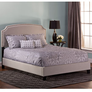Lani Bed - Full - Rails Included - Light Linen Gray