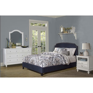 Lani Bed - Twin - Rails Included - Navy Linen