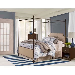 McArthur Canopy Bed Set - Bronze Finish - Queen - Bed Frame Included