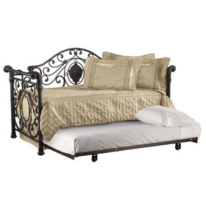 Mercer Antique Brown Daybed with Roll-Out Trundle