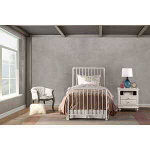 Brandi Bed Set - Twin - Bed Frame Included, White